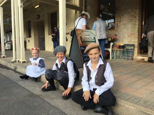 Children getting into the Cornish spirit, Kernewek Lowender, 2017